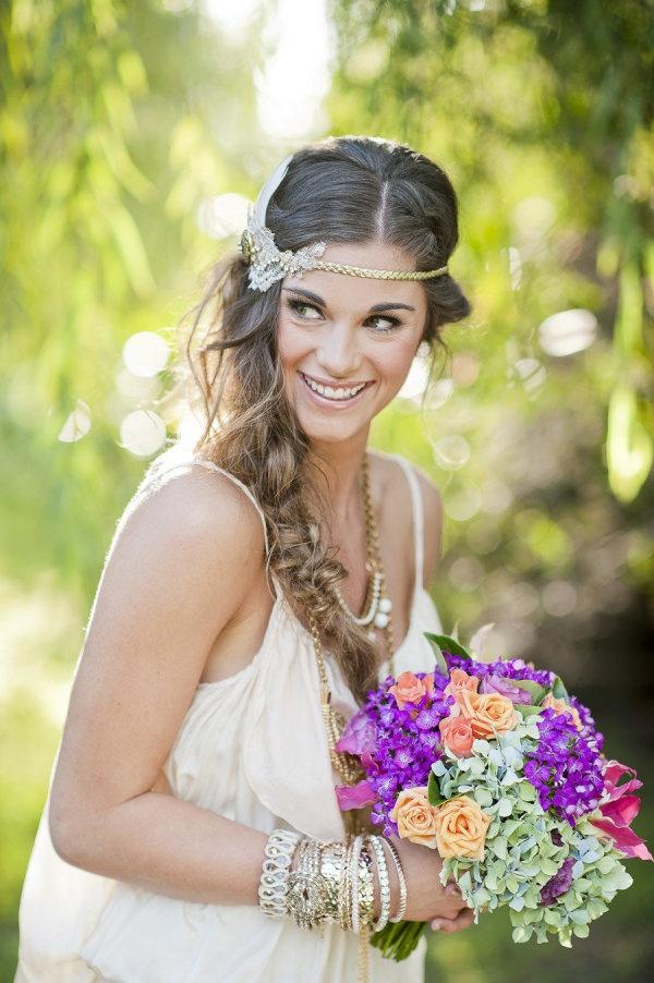 Peinados de novia con trenzas innovias for Trenza boda