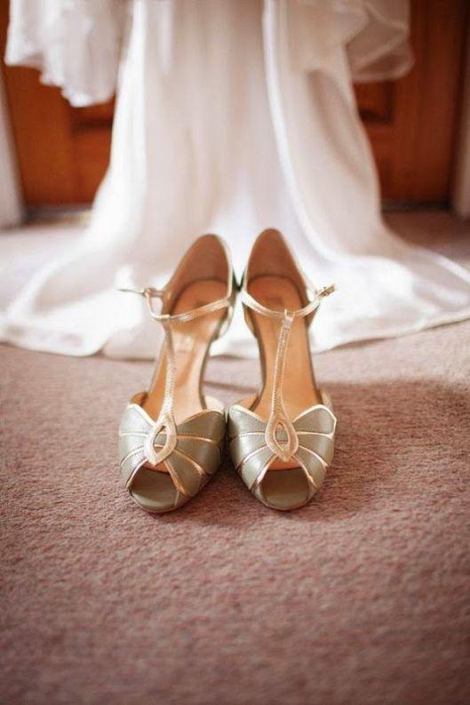 zapatos de novia baile verdes