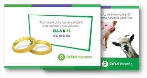 Propuesta para regalo solidario de Intermón Oxfam