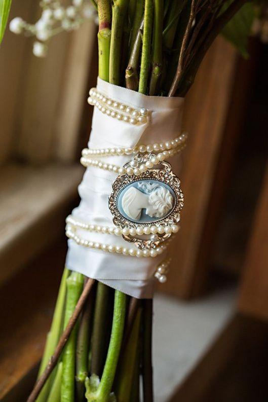ramo de novia camafeo