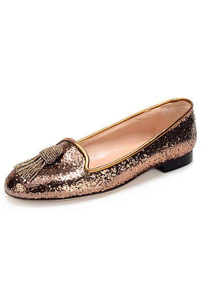 slipper de novia oro viejo