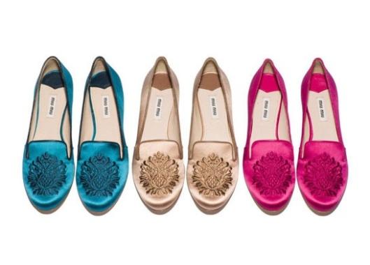 slippers de novia miu miu