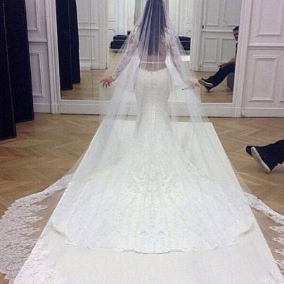 espalda vestido de novia kim kardasian