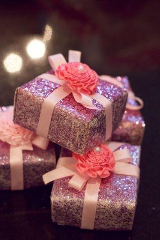 javoncitos envueltos en glitter