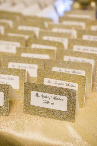 mesero de boda glitter