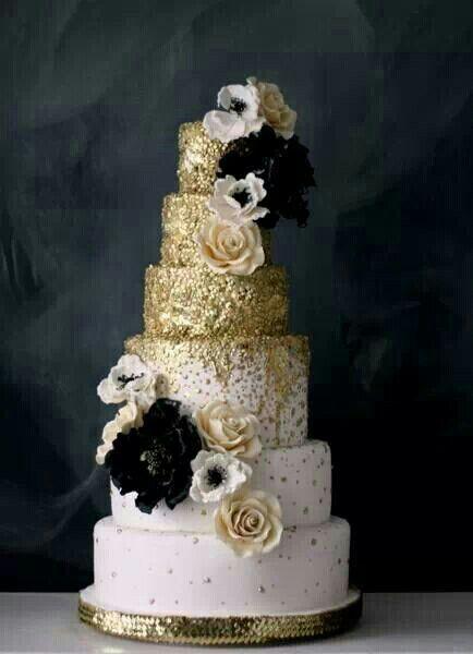 tarta boda glitter