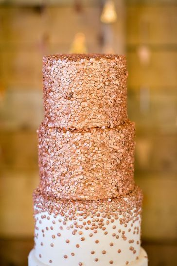 tarta de boda lentejuelas