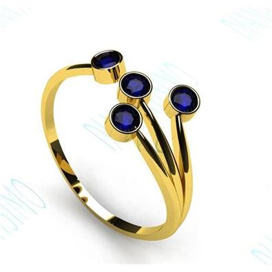 anillo de zafiros