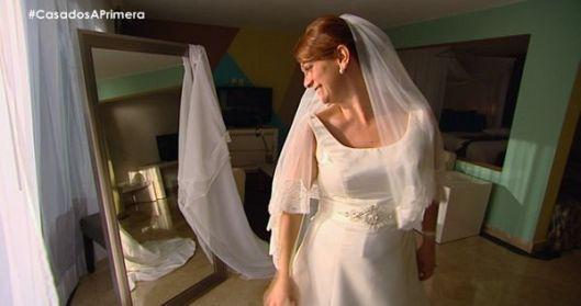 Toñi de Casados a primera vista lució el vestido de novia Bahia de Innovias