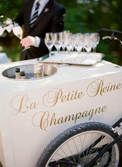 carrito champagne boda