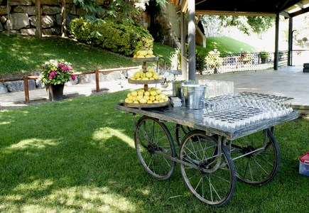 carrito de bebidas de boda