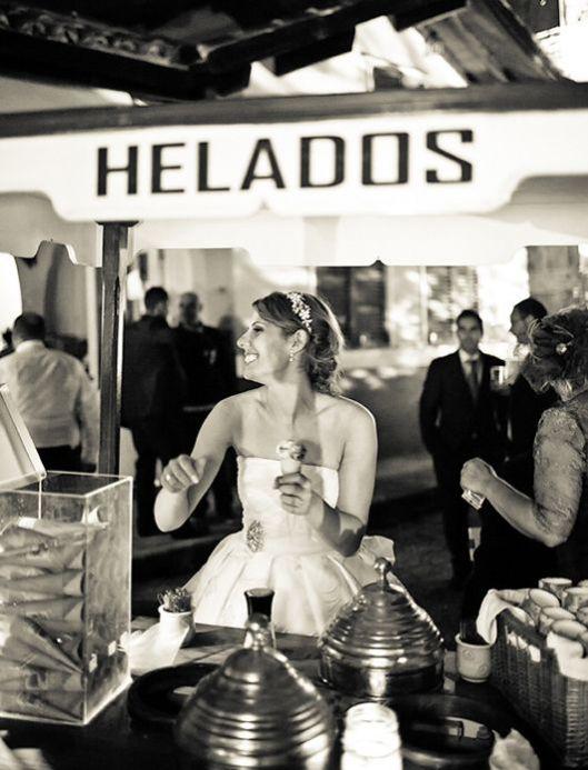 carrito de helados boda