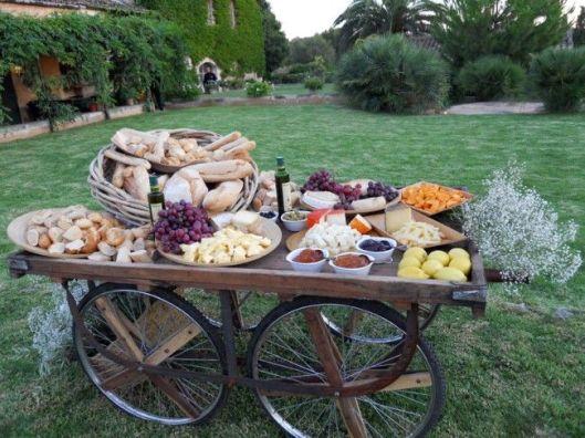carrito de quesos de boda innovias