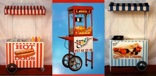 carrito hosteleria hot-dogs
