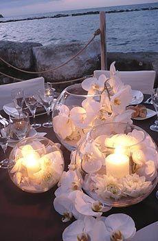 centro mesa velas