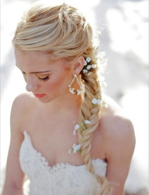 Peinado novia lateral