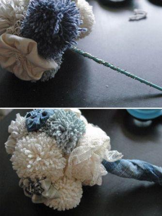 ramo de novia de pompones
