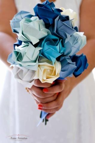 ramo de novia diy flores de papel