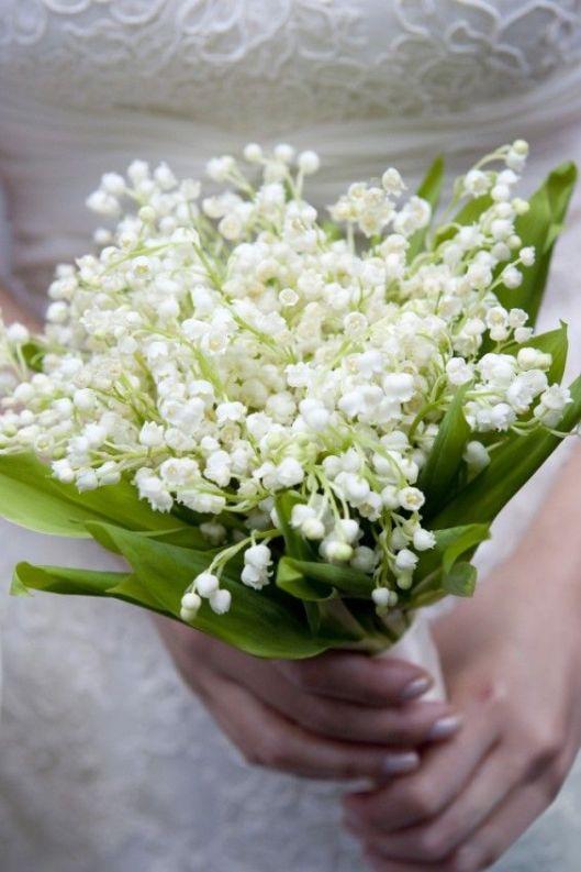 ramo de novia en muguet