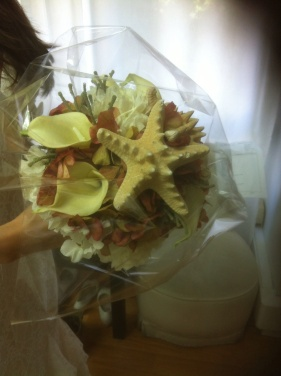 ramo de novia estrella de mar