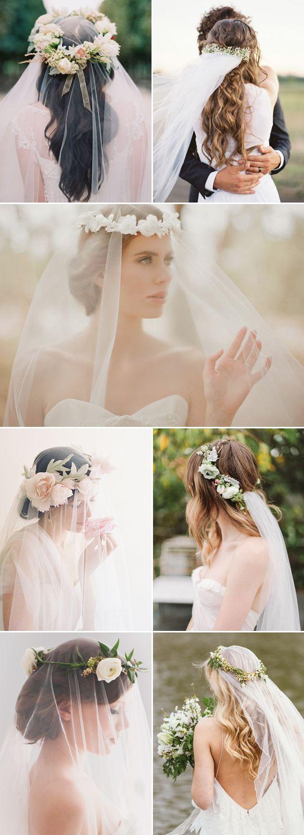 ebf07967c velos de novia con coronas de flores