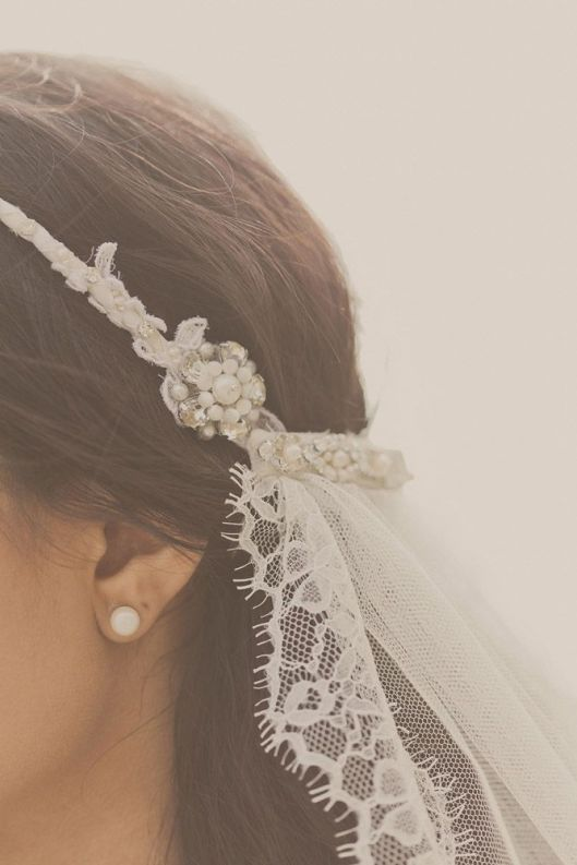 velo de novia desde media tiara