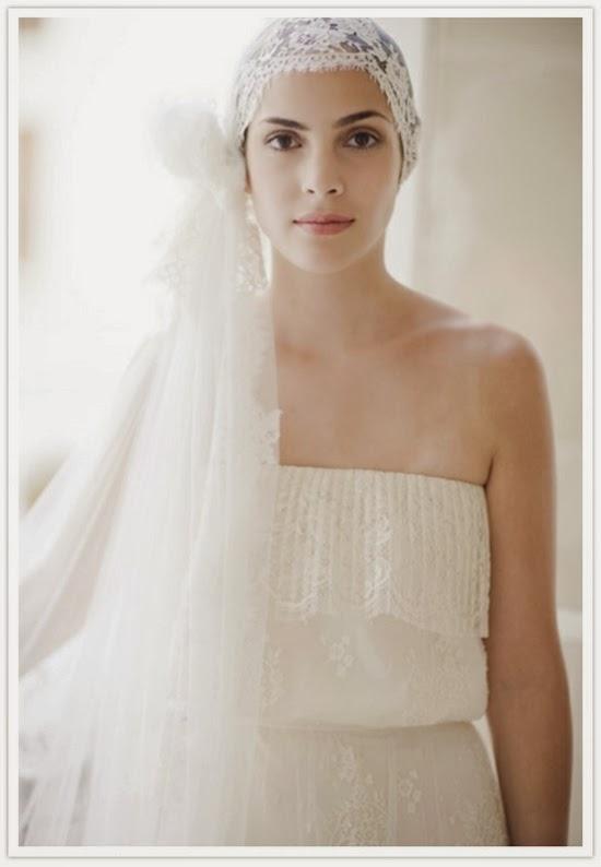 Velo de novia anudado innovias - Turbantes para novias ...