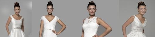 Diferentes modelos de la colección de alquiler de trajes de novia de Innovias.