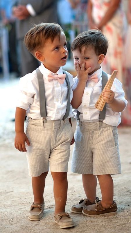 pequeos caballeros invitados de boda va pinterest