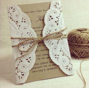 Invitación de boda hecha a mano, DIY. Vía Pinterest.