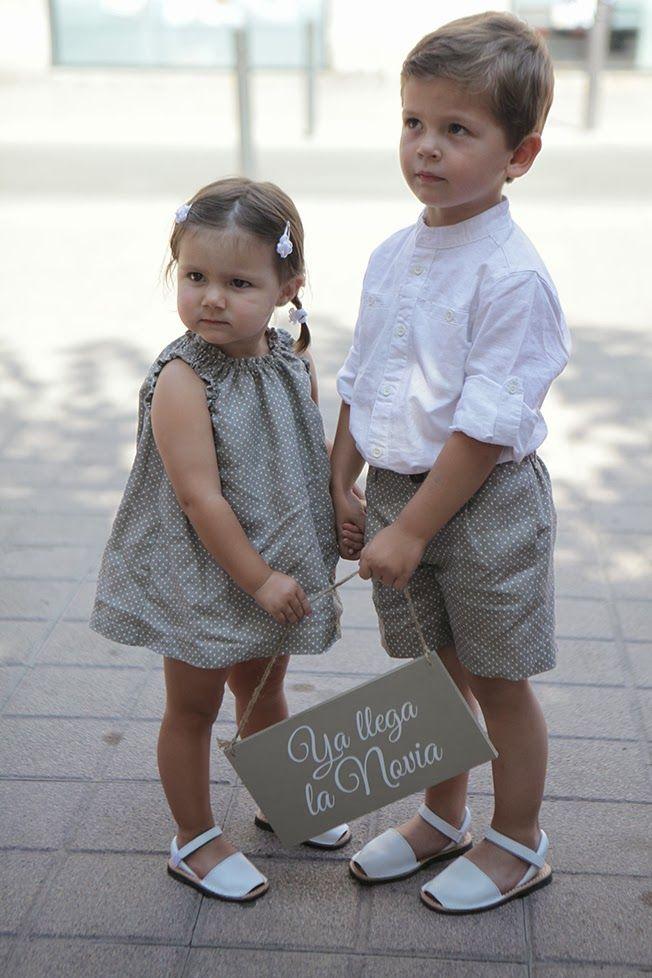 Conjuto de invitados de boda para niños. Vía Pinterest.