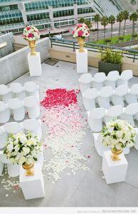 Lugar de celebración para una boda en la ciudad: la azotea de un edificio. Vía Pinterest.