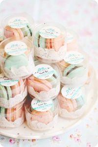Cajita de dulces para regalar a los invitados de boda. Vía Pinterest.