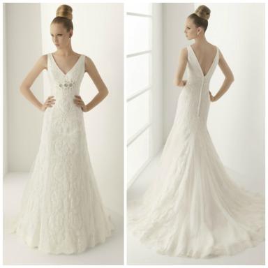 Vestido de novia en alquiler modelo Moscu confeccionado por el Grupo Rosa Clará para Innovias.