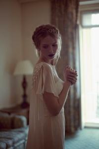 Novia romántica y chic. Vía Pinterest.