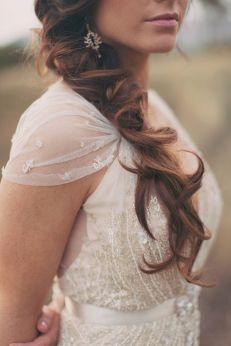 Pendientes de novia vintage. Vía Pinterest.