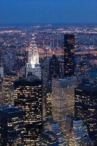 Los rascacielos de la ciudad de Nueva York. Vía Pinterest.