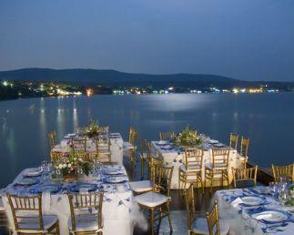 Maravillosas vistas desde el banquete de boda. Vía Pinterest.
