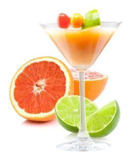 Refrescante Malibu Sunset con frutas. Vía Pinterest.