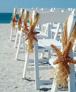 Decoración para una boda en la playa. Vía Pinterest.