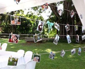 Mural con fotos de los invitados. Vía Pinterest.