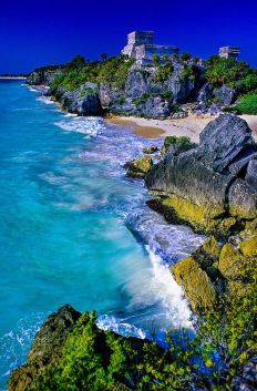 Tulum, México y el Mar Caribe. Vía Pinterest.