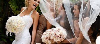 La novia y sus amigas. Vía Pinterest.