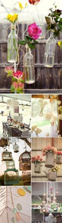 Flores de decoración de bodas. Vía Pinterest.