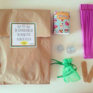 Kit supervivencia de boda para los amigos de la novia. Vía Pinterest.