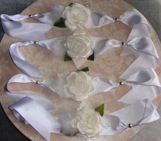 Pulseras artesanales para la novia y sus amigas. Vía Pinterest.