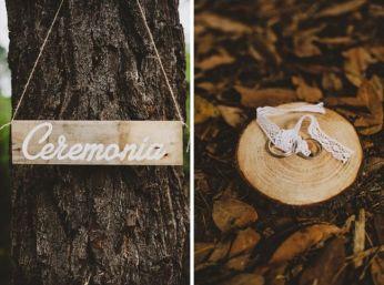 Detalles de originales bodas rurales. Vía Pinterest.