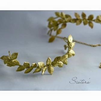 Tocado novia efecto metalico en oro o plata Innovias.