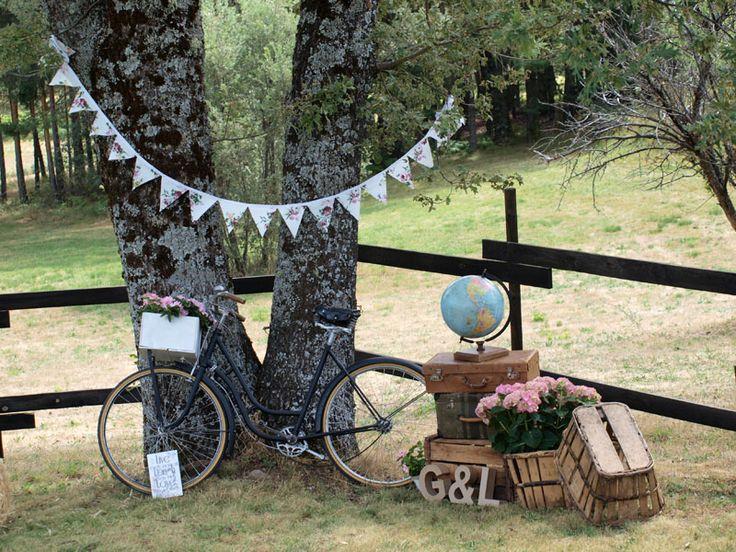 Boda en una finca innovias for Photocall boda vintage