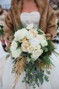 Look de novia para boda de invierno. Vía Pinterest.